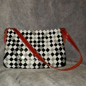 Nahui Ollin Checkered Candy Wrapper Shoulder Bag